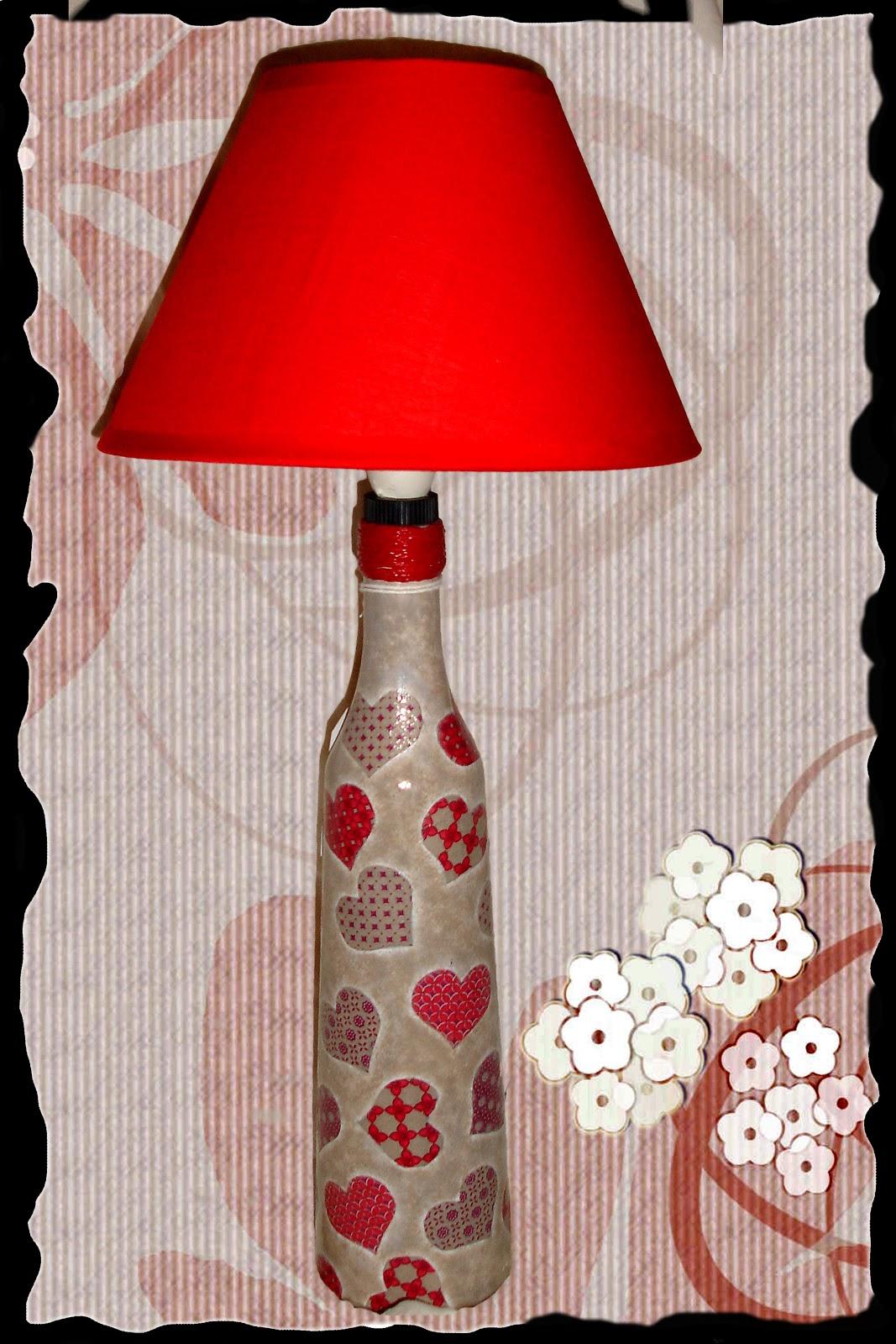 Decora con botellas de cristal ayc adapta y combina - Lamparas hechas con botellas ...