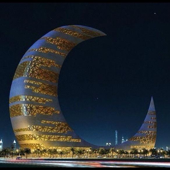Crescent Moon Tower, Dubai.