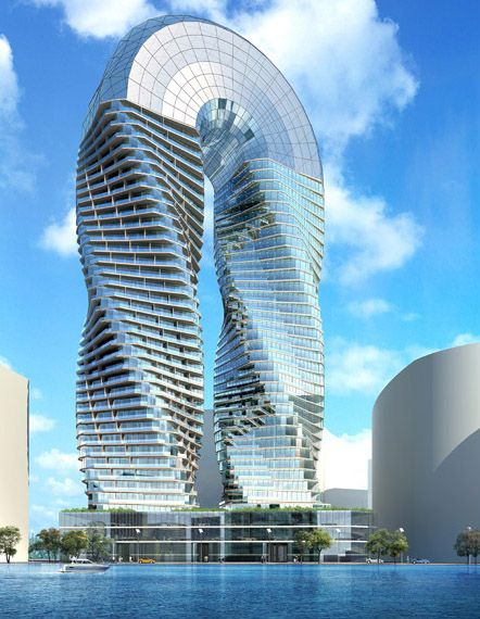 DNA Towers project  James Law Cybertecture  Abu Dhabi