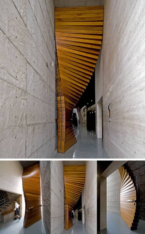 this-unique-door-is-designed-by-matharoo-associates-and-resembles-a-wooden-curtain