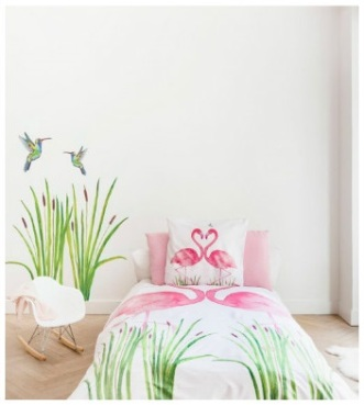 Ropa-de-cama-infantil-flamenco-rosa