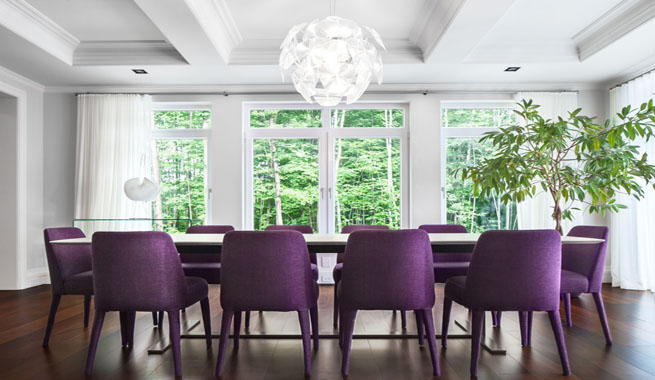 purple-chairs-white-table-dining-room