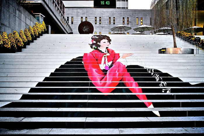 #7 Stairs To The Musical Theater In Seoul,south Korea